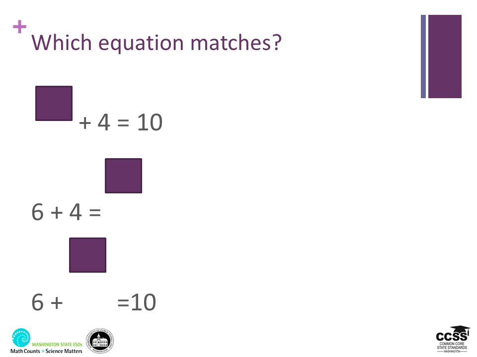 Which equation matches
