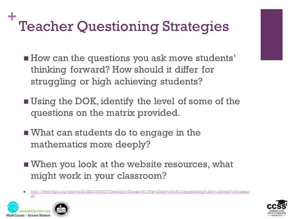 Teacher Questioning Strategies