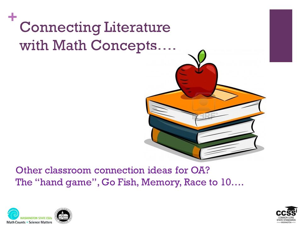 Connecting Literature with Math Concepts….