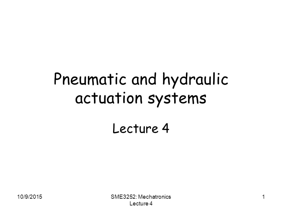 Pneumatic and hydraulic actuation systems