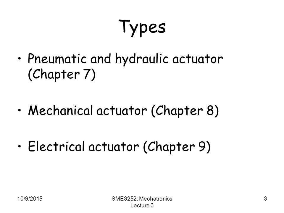 SME3252: Mechatronics Lecture 3