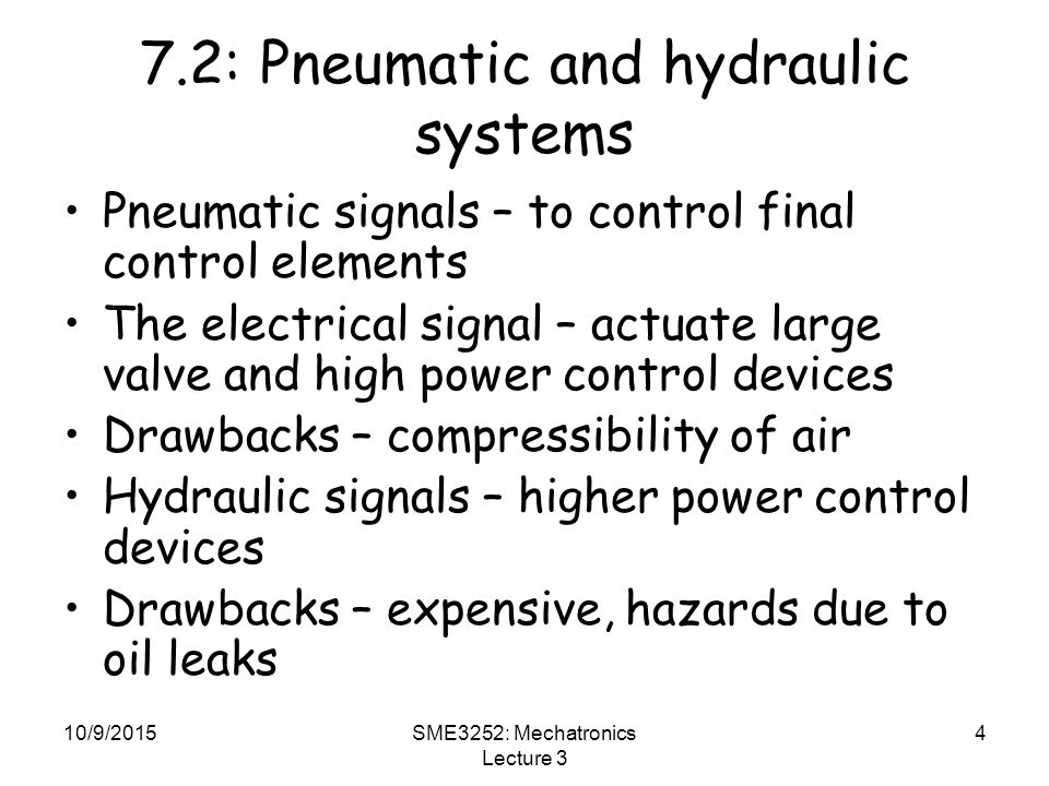 7.2: Pneumatic and hydraulic systems
