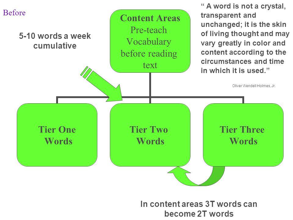 5-10 words a week cumulative