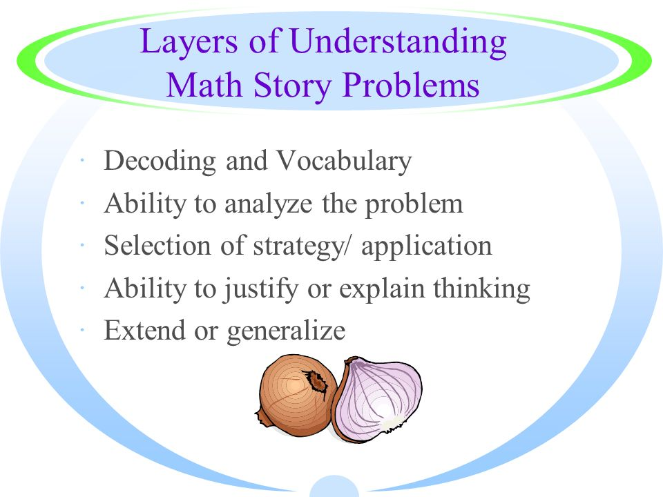 Layers of Understanding Math Story Problems