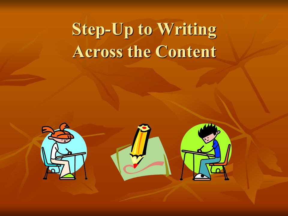 Step-Up to Writing Across the Content