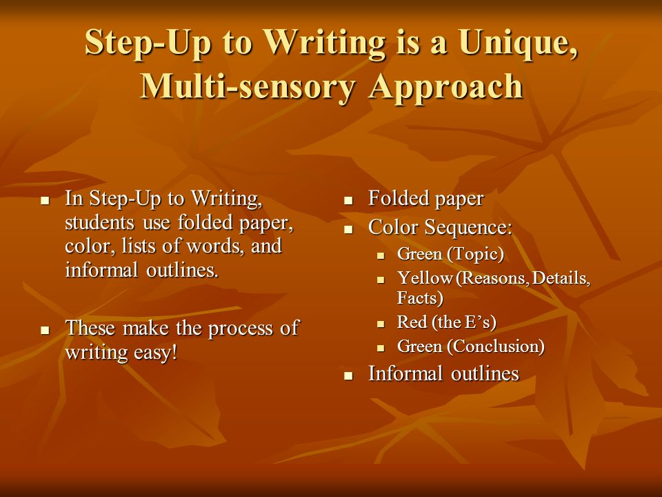 Step-Up to Writing is a Unique, Multi-sensory Approach