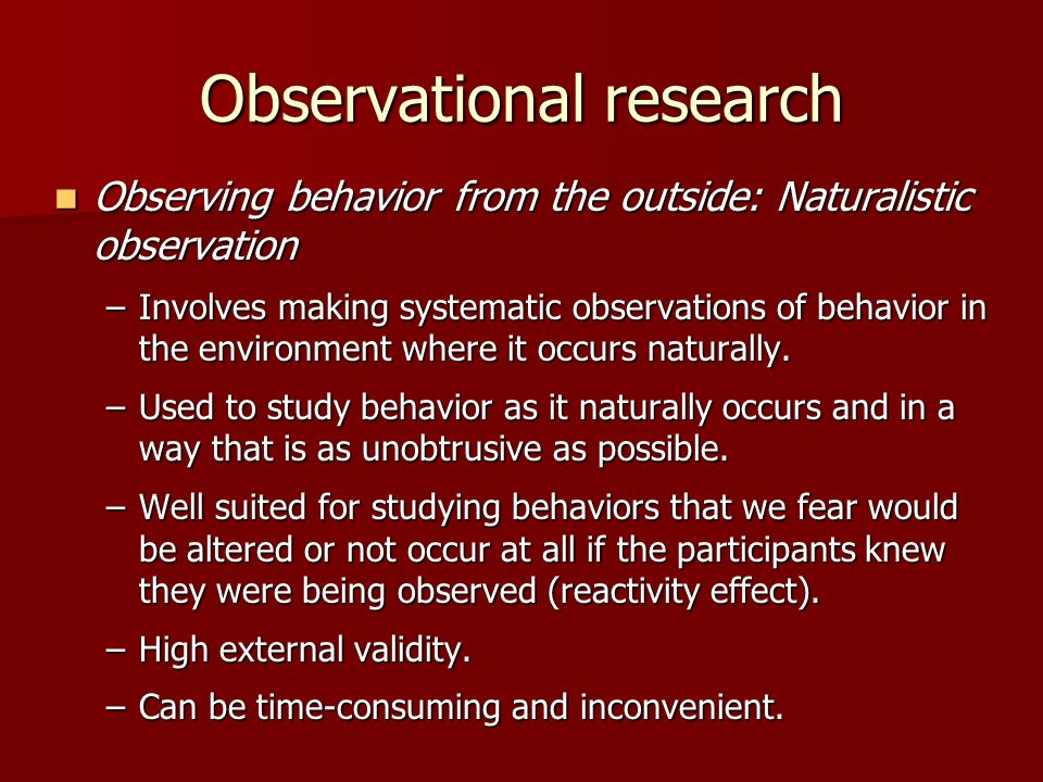 how to include observations in a research study