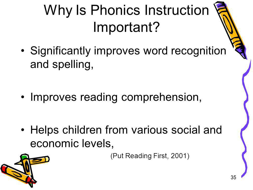 Why Is Phonics Instruction Important