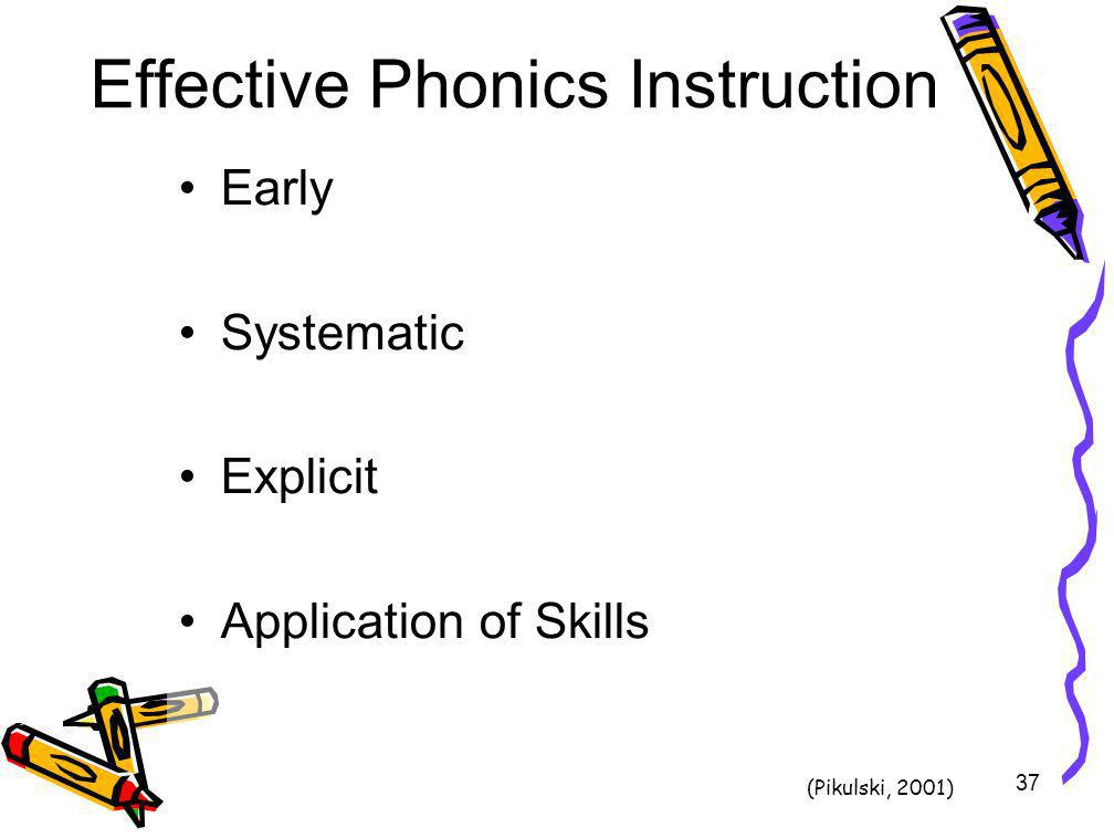 Effective Phonics Instruction