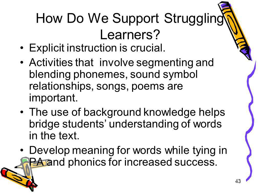 How Do We Support Struggling Learners