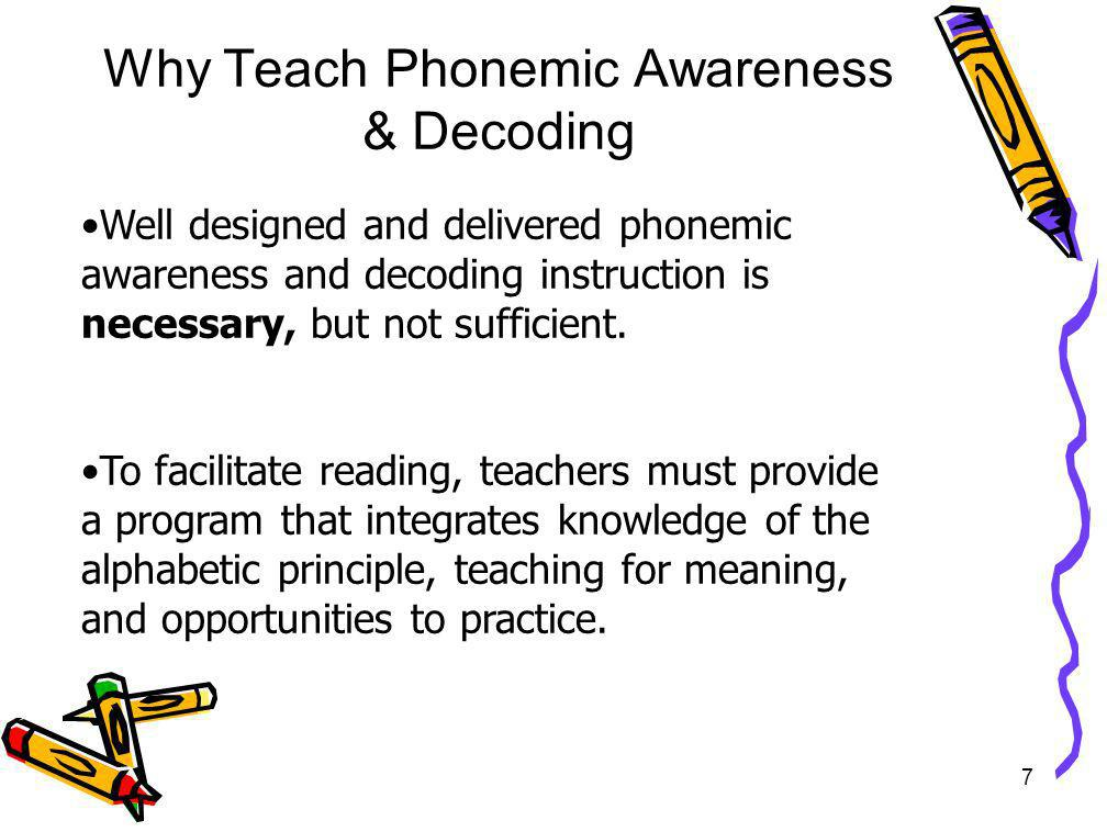 Why Teach Phonemic Awareness & Decoding