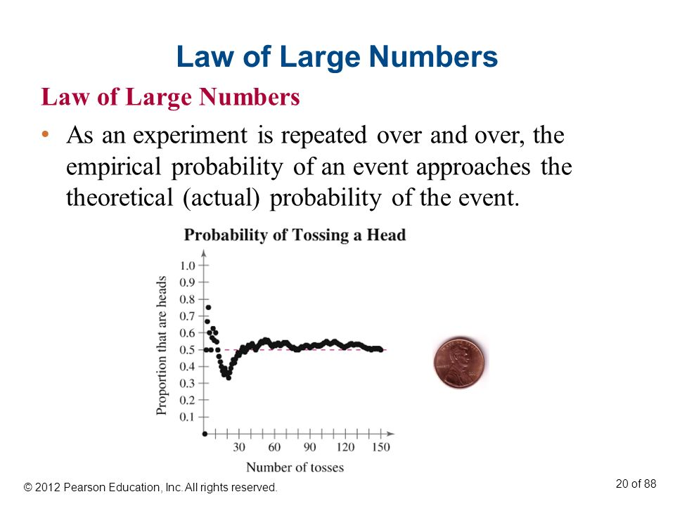 Law of Large Numbers Law of Large Numbers