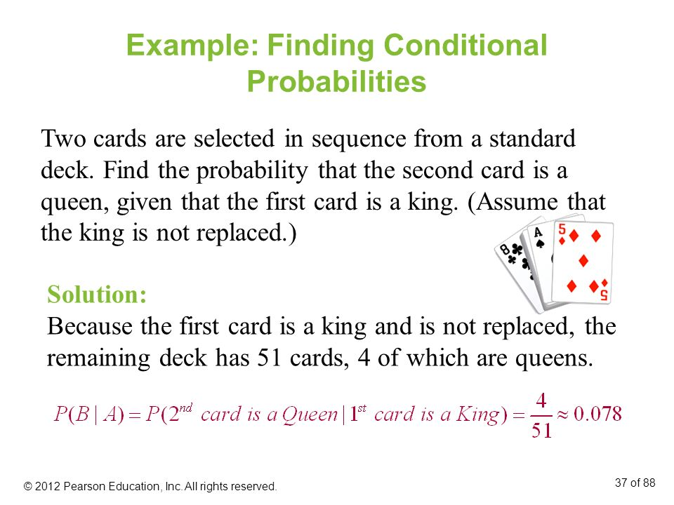 Example: Finding Conditional Probabilities