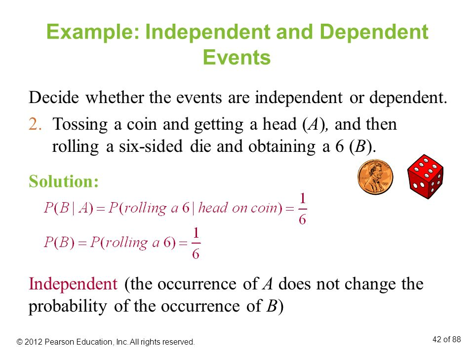 Example: Independent and Dependent Events