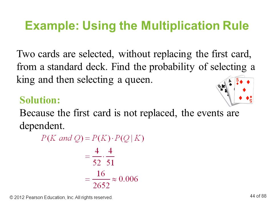 Example: Using the Multiplication Rule