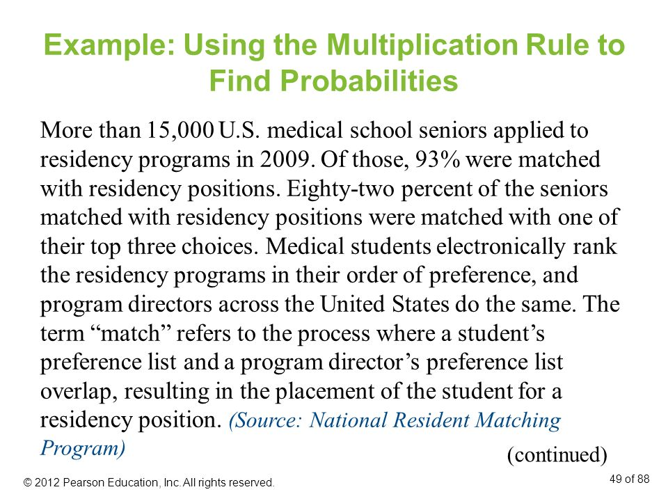 Example: Using the Multiplication Rule to Find Probabilities
