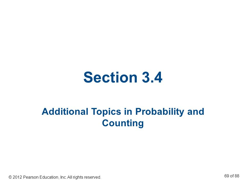 Additional Topics in Probability and Counting
