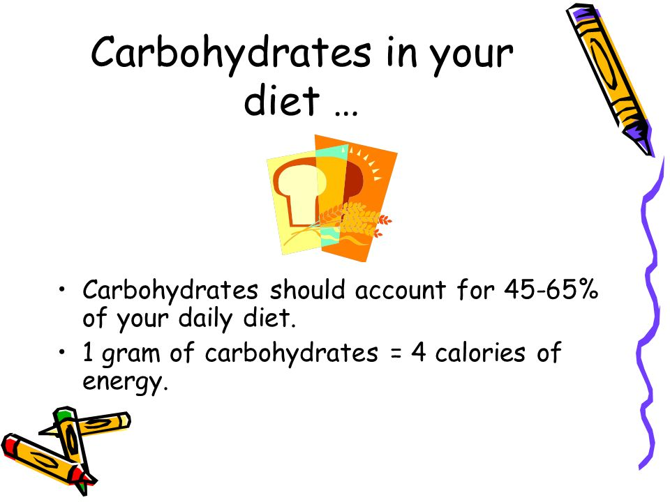 Carbohydrates in your diet …