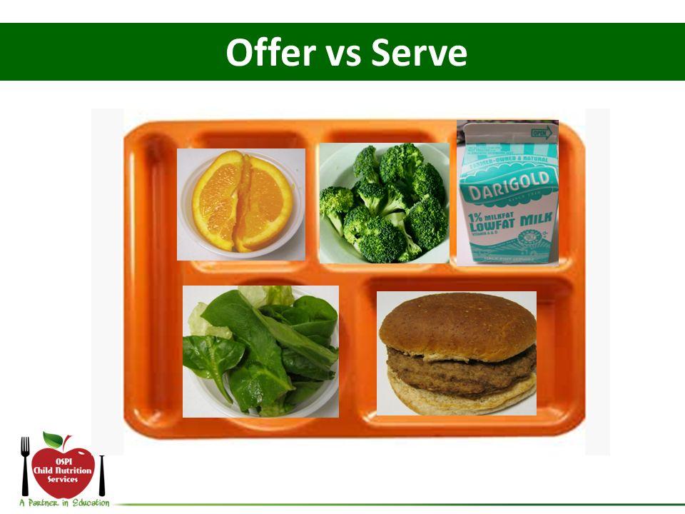 Offer vs Serve Let's do a little practice with Offer vs Serve.