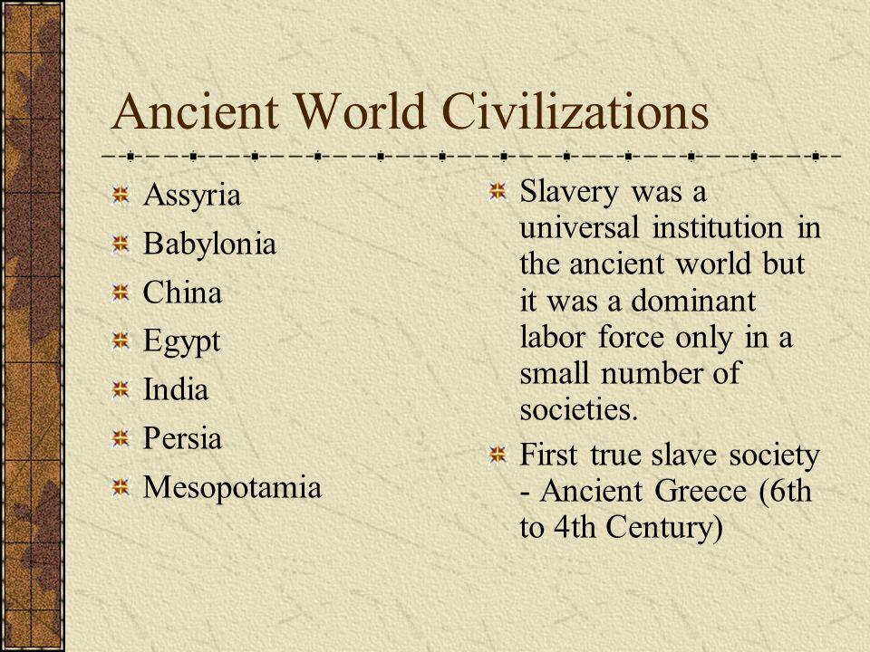 Ancient World Civilizations
