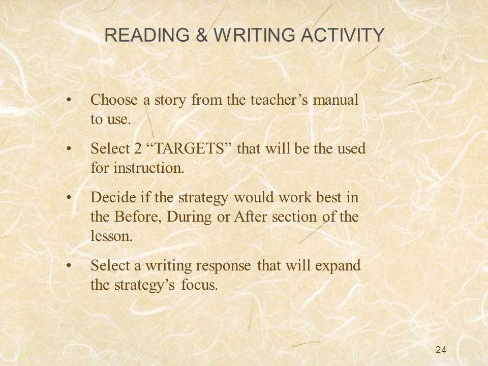 READING & WRITING ACTIVITY