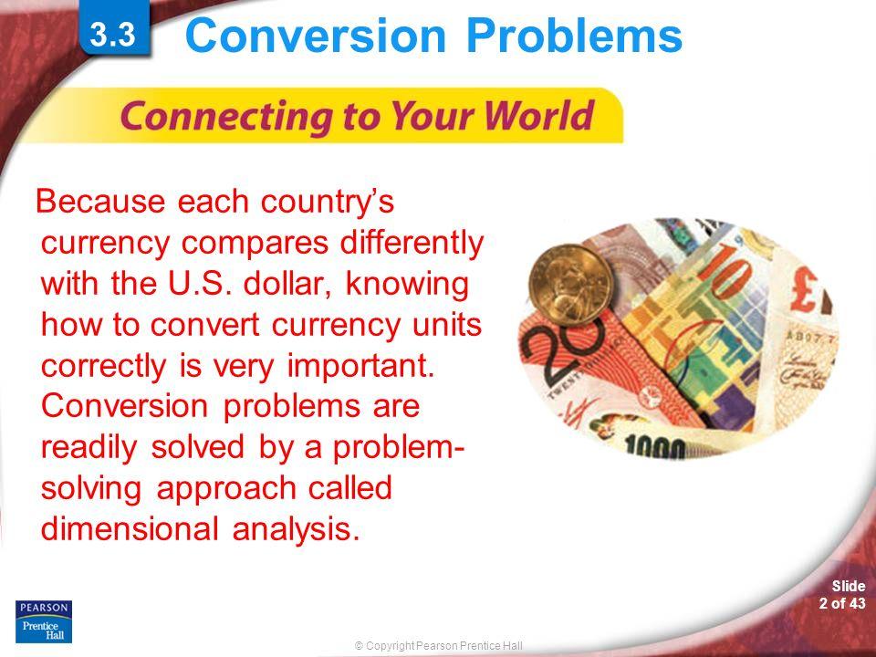 Conversion Problems 3.33.