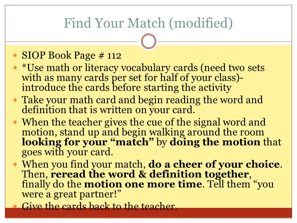 Find Your Match (modified)
