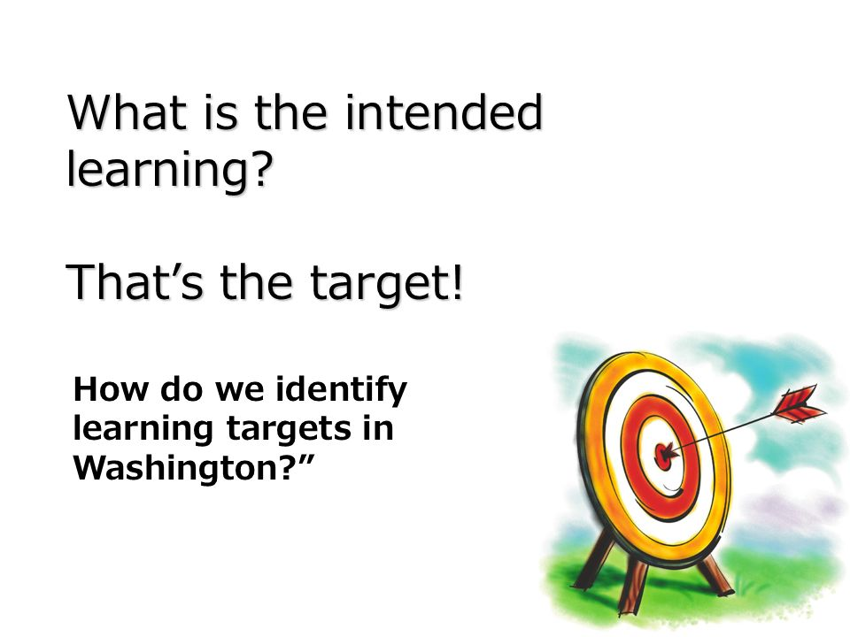 What is the intended learning