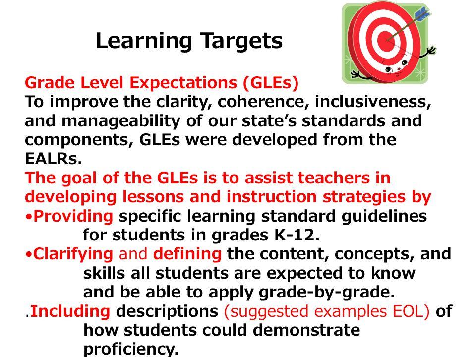 Grade Level Expectations (GLEs)