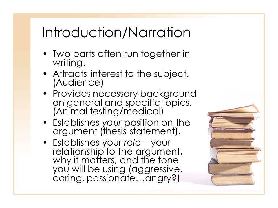 Introduction/Narration