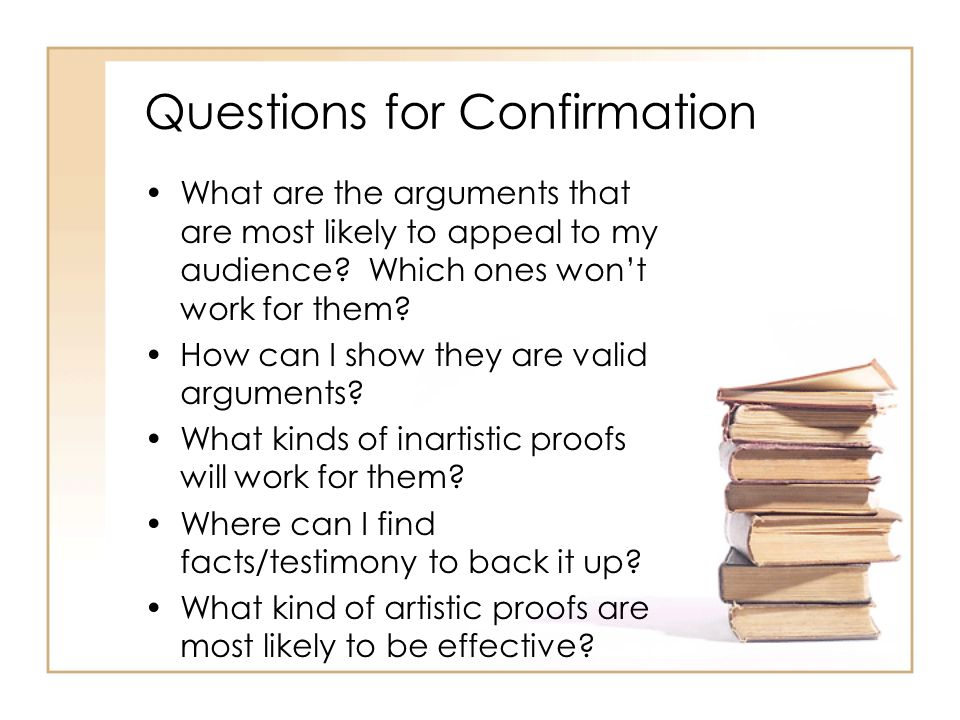 Questions for Confirmation