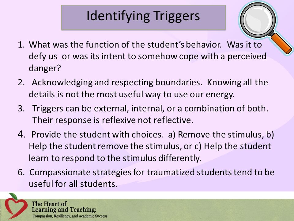 Identifying Triggers