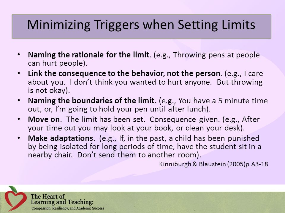 Minimizing Triggers when Setting Limits