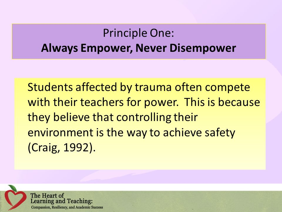 Principle One: Always Empower, Never Disempower