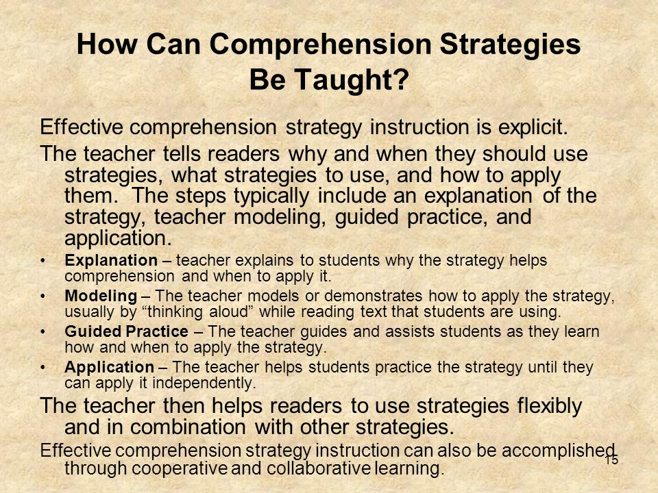 How Can Comprehension Strategies Be Taught