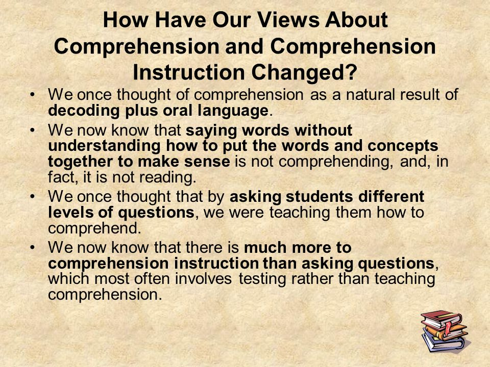How Have Our Views About Comprehension and Comprehension Instruction Changed