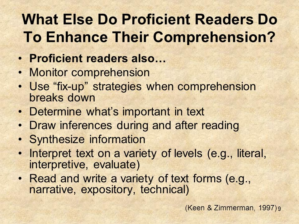 What Else Do Proficient Readers Do To Enhance Their Comprehension