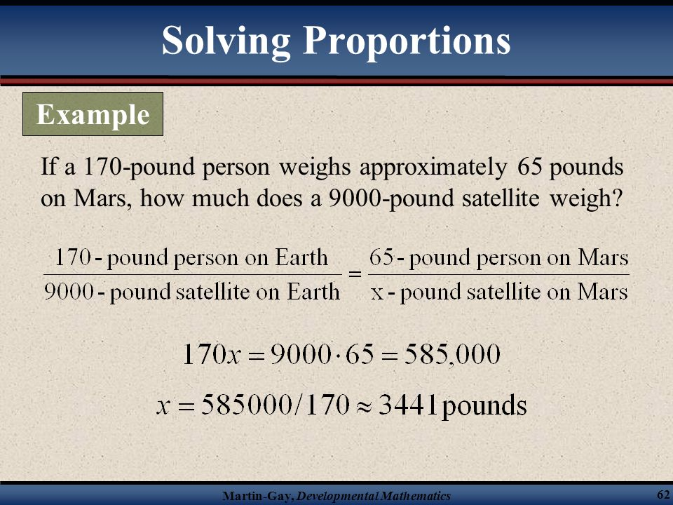 Solving Proportions Example