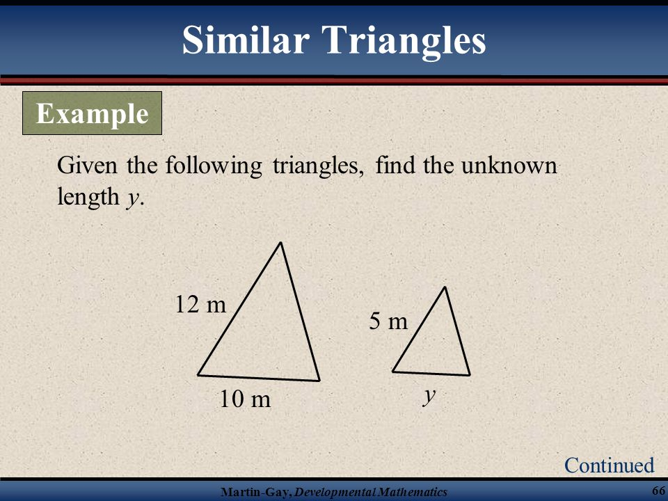 Similar Triangles Example