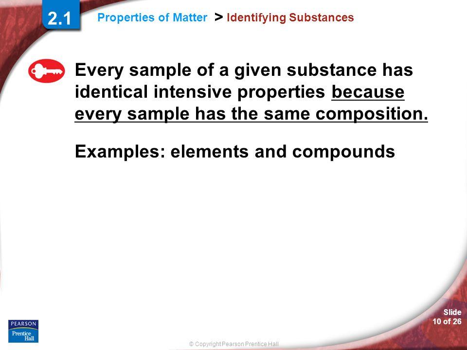 Identifying Substances