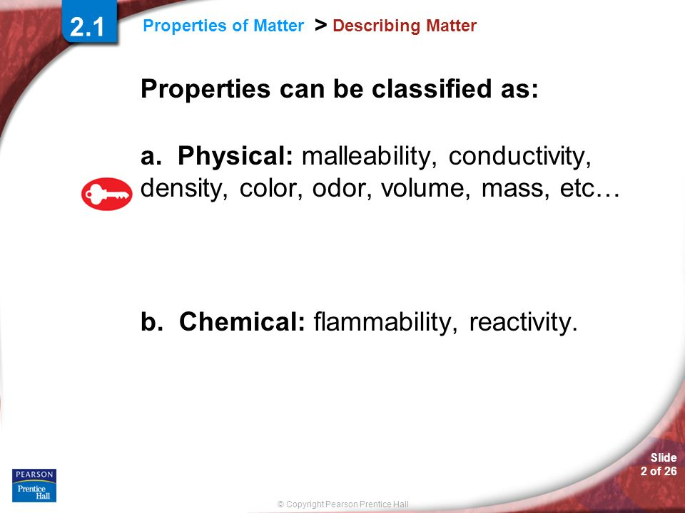 Properties can be classified as: