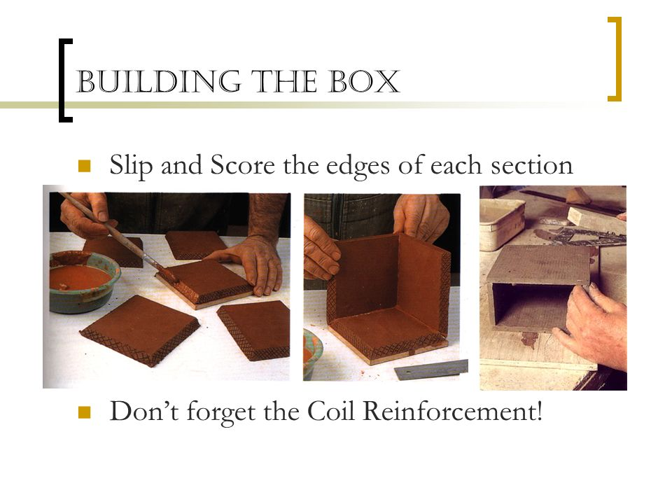 Building the Box Slip and Score the edges of each section Don't forget the Coil Reinforcement!