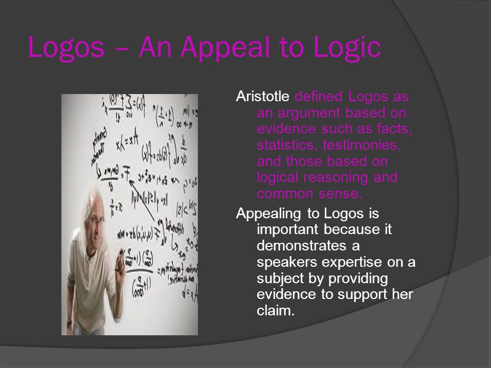 Logos – An Appeal to Logic