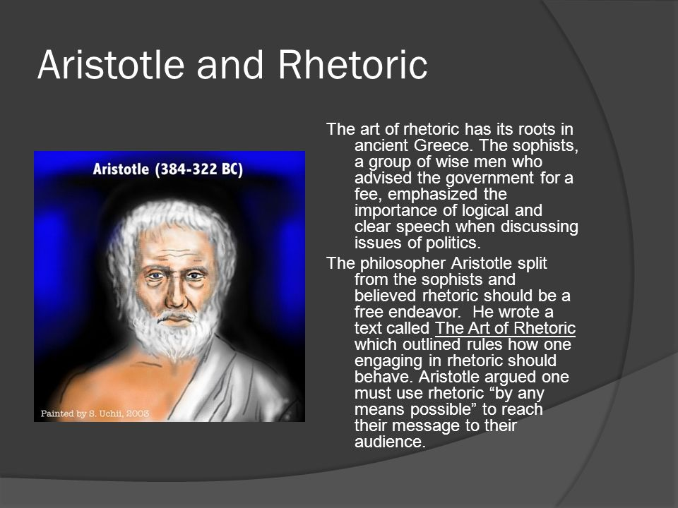 Aristotle and Rhetoric