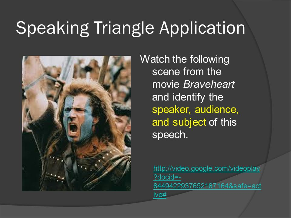 Speaking Triangle Application