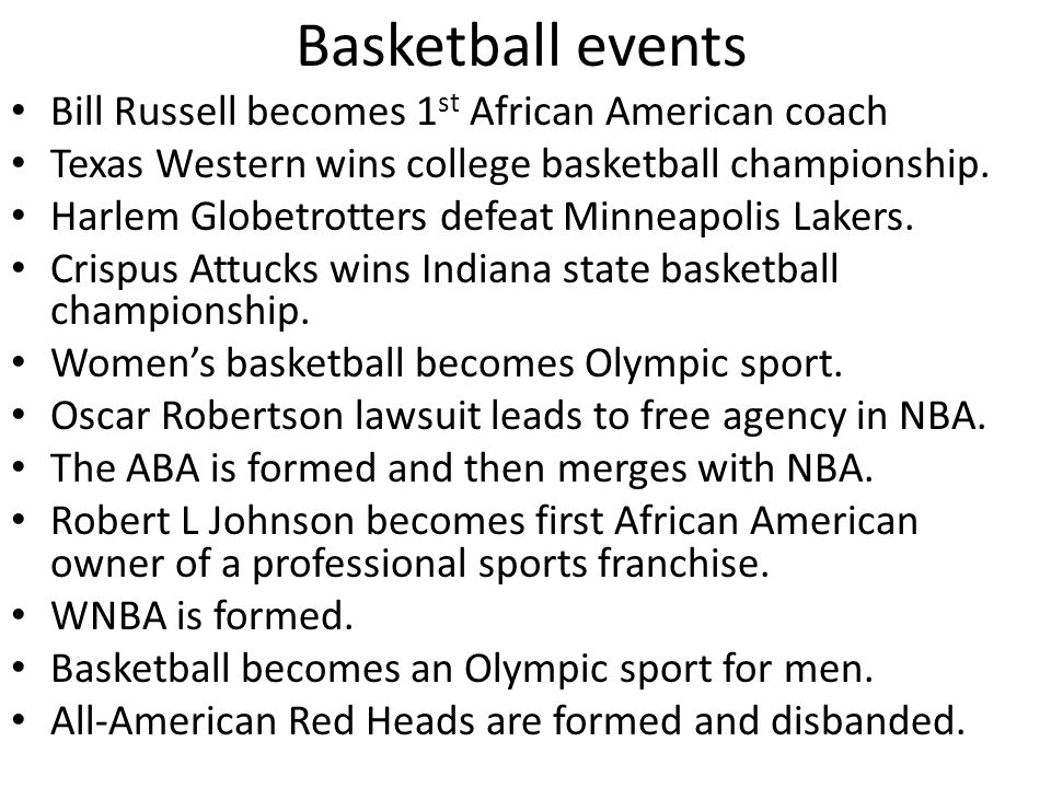 Basketball events Bill Russell becomes 1st African American coach