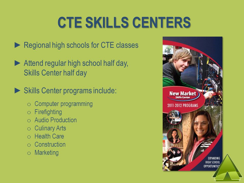 CTE SKILLS CENTERS Regional high schools for CTE classes