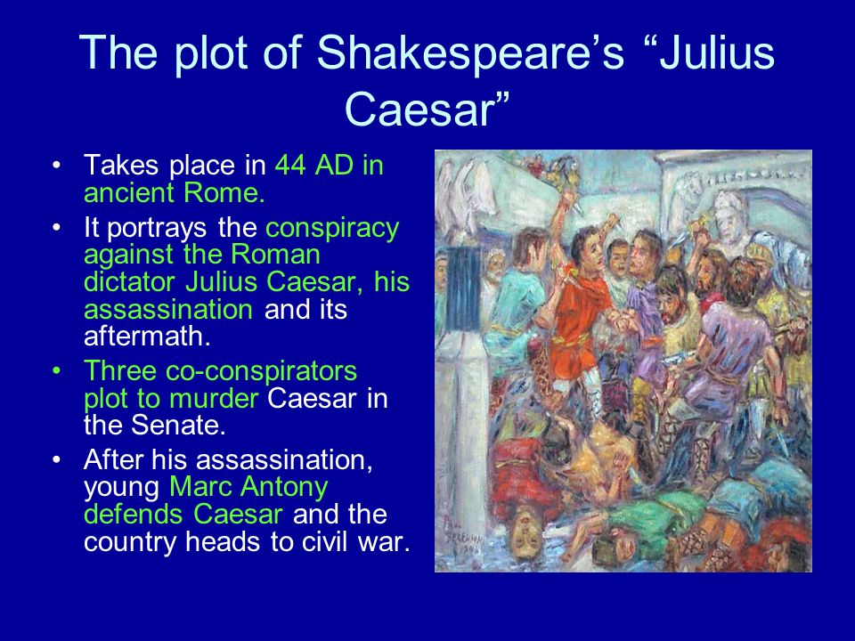 The plot of Shakespeare's Julius Caesar