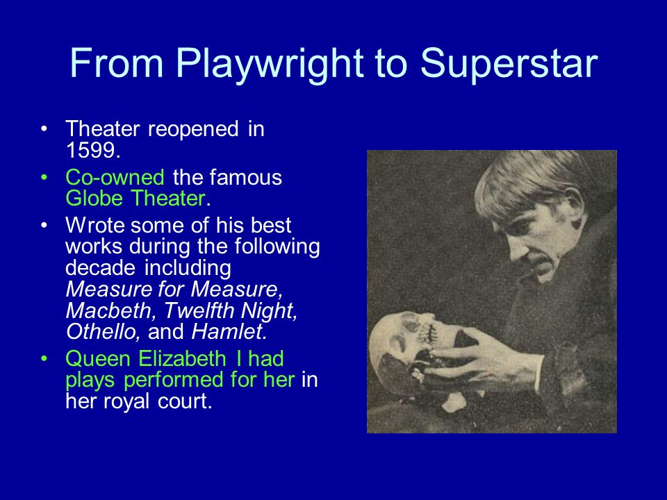 From Playwright to Superstar
