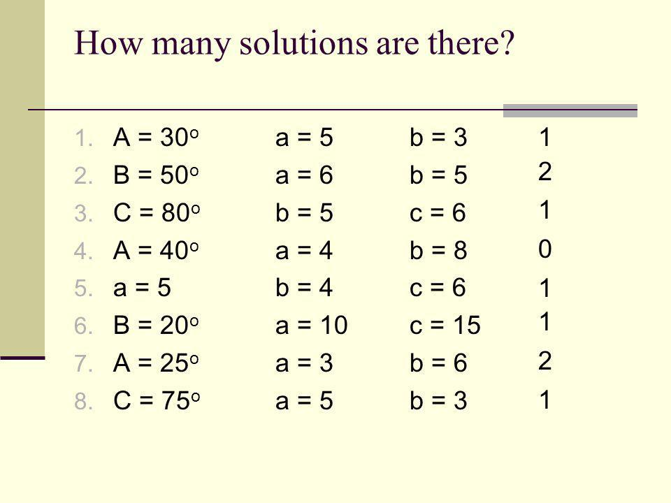 How many solutions are there